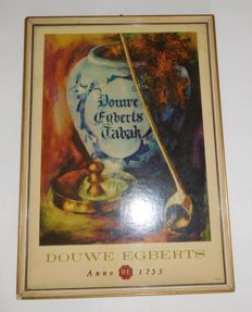 Smoking items: Douwe Egberts tobacco advertising sign / 1950s-60s