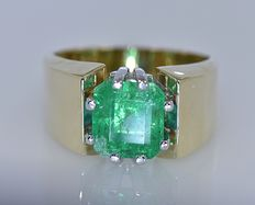 2.15 Ct Emerald ring - No reserve price!