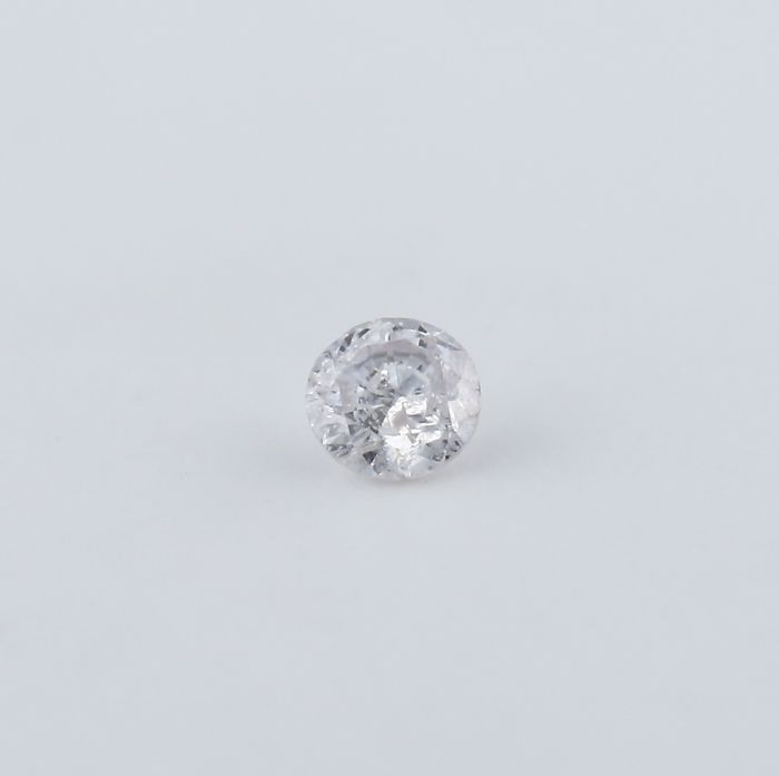 0.10 ct. Round Brilliant Natural Diamond - Faint Pink - I 2