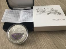 Fiji - 1 Dollar 2014 'Treasures of Mother Nature - Philippines Violet Pearl' - 20 g. Silver