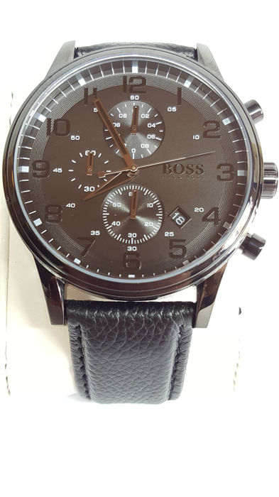 Hugo Boss men's watch Black 1512567 Aeroliner, new! No reserve!!