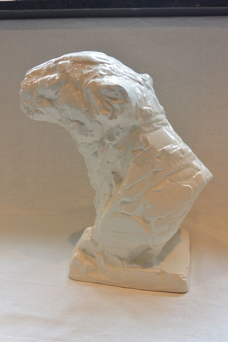 Patrick Villas for Royal Boch - large ceramic panther head ( 38 cm) - Signed