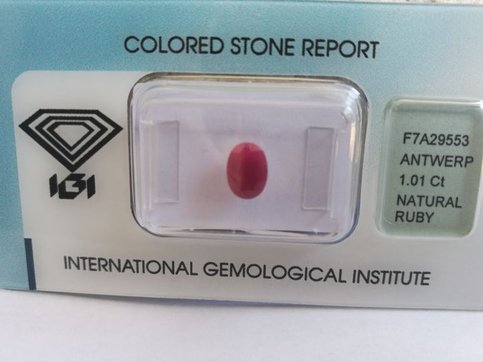 Ruby – 1.01 ct – no reserve