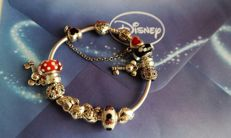 "Pandora bracelet with 13 charms including 1 small chain — theme ""Mickey"""