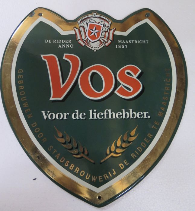 Vos Enamel sign 1990s