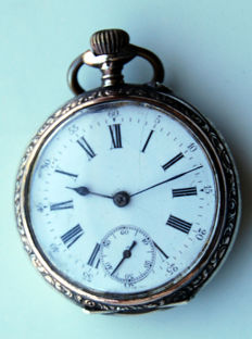 Two cylinder watches, pocket watch.