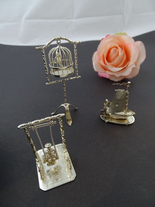 Silver antique miniature set 835k