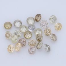 24 Round Brilliant Diamonds – 0.45 ct.  - no reserve price