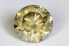 Diamant - 2.33 ct - Fancy Yellowish Gray - Zonder Reserve Prijs