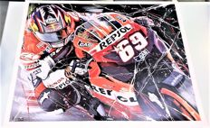 "Exclusive lithograph by Eric Jan Kremer of Nicky Hayden #69 ""Moto GP 2006"""