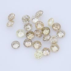 22 Round Brilliant Diamonds – 0.35 ct.  - no reserve price