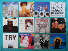 "Lot of 52 singles 7""  great artists of the 90's period"
