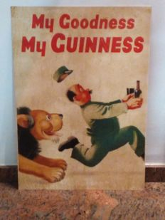 Guinness, metal advertising sign