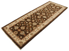 Original rug – Hand-knotted double knots – 230 x 80 cm – From Pakistan/ Afghanistan, ca. 1970 – With certificate of authenticity – Galleria farah1970 – 90528