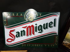 San Miguel beer two-sided sign