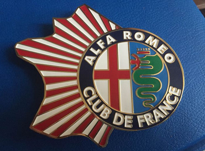 ALFA ROMEO CLUB DE FRANCE- CAR CLUB BADGE for sale