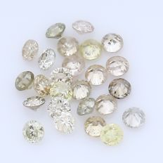 25 Round Brilliant Diamonds – 0.35 ct.  - no reserve price