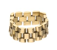 Yellow gold Rolex link ring, inner size: 20.50 mm