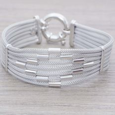 Bracelet in .925 rhodium-plated silver with Italian design – 19.50 cm
