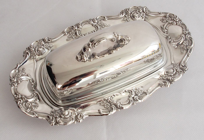 Antique Silver Plated Butter Dish - Yeoman Early 20th Century & Antique Silver Plated Butter Dish - Yeoman Early 20th Century - Catawiki