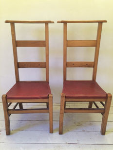 Two beautiful bid/church chairs, early 20th century