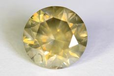 Diamond – 2.19 ct – Fancy Greyish Yellow – SI2 – No reserve