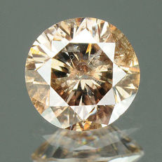 0.49 ct. Natural fantasy diamond, intense greyish brown.