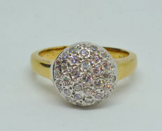 14K. Ring with cubic zirconia
