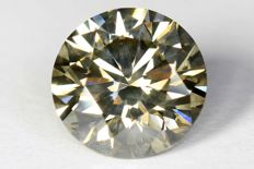 Diamant - 1.15 ct - Fancy Greenish Yellowish  - SI1 - Zonder Reserve Prijs