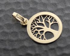 14 kt tree of life pendant, size: 12 x 17 mm.