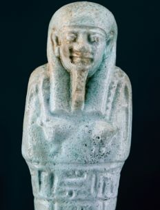 Egyptian faience Shabti for the priest of Smentet Pa-Di-Osiris - ca. 13 cm a. 5,12 inches