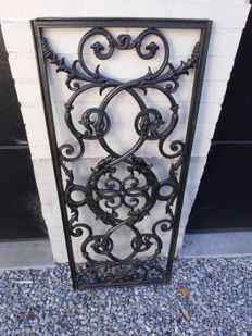 Cast iron door grille with two-headed dragon, Belgium, circa 1900