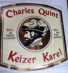 Charles Quint enamel sign 1990s