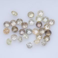 29 Round Brilliant Diamonds – 0.45 ct.  - no reserve price