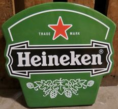 Heineken beer enamel sign 1990s - unique piece