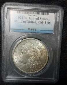 United States -  1 Dollar 'Morgan'1921 - Silver