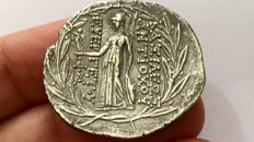 Greek Antiquity - Seleukid kings. Antiochos VII (138-129 BC). AR Tetradrachm, Cappadocian mint.