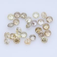 26 Round Brilliant Diamonds – 0.39 ct.  - no reserve price