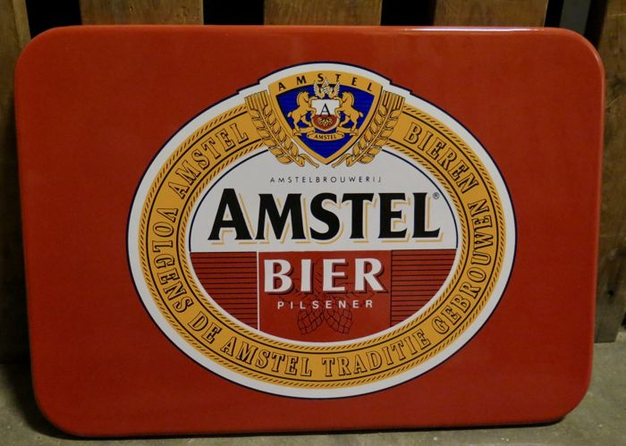 Amstel Bier enamel sign from the 1980s
