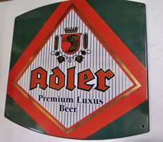 Adler enamel sign from the 1990s