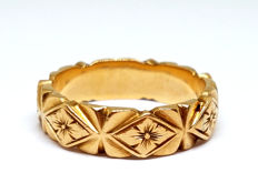 Men's floral design ring in 18 kt gold, size 23 (Spain)