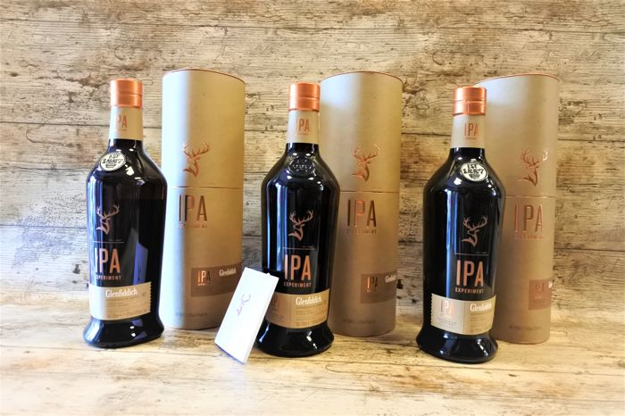 Glenfiddich IPA Experimental Series - 3 Bottles in original tubes