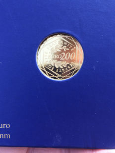 France - 200 euro gold / gold coins - Regions in France 2012 – in case, with certificate