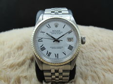 1963 ROLEX DATEJUST 1601 SS WHITE ROMAN DIAL WITH JUBILEE BAND