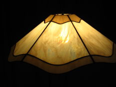 Vintage 1960s hanging lamp of opaline stained glass, 0.5 m