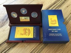 Krügerrand Investment Coin Set 2007, Gold, Rose Gold and White Gold, RARE!!, Limited to 5,000 coins