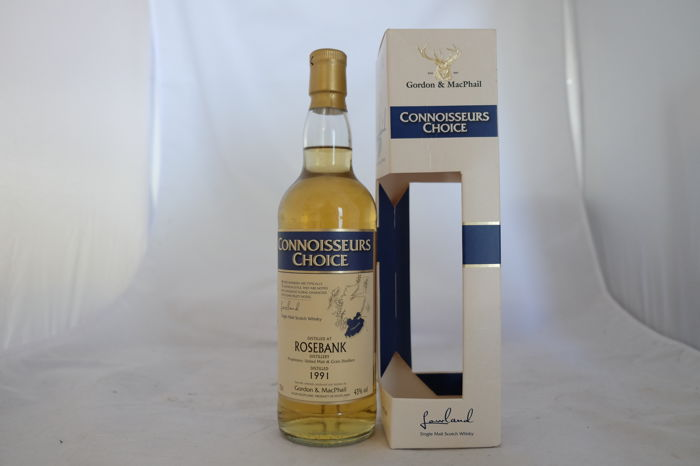Rosebank 1991, Gordon & MacPhail - Connoisseurs Choice - 17 Year old, Lowlands, Scotland, 1 Bottle, 0,70 Ltr, Oc