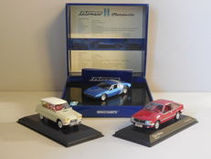 Minichamps - Scale 1/43 - Lot with 3 models: Citroen, De Tomaso & Opel