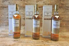 3 bottles - Macallan Gold in original boxes