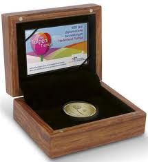 """The Netherlands – 10 Euro 2012 """"Tulip coin"""" in case – gold"""